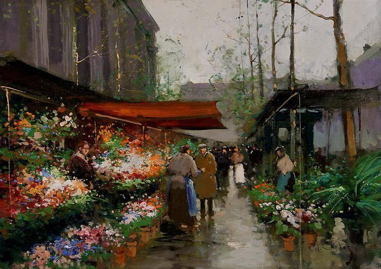 Flower Market At La Madeleine